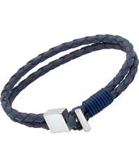 Unique Jewelry Lederarmband: Blau Edelstahlverschluss LB0283SL