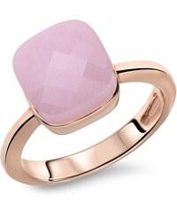 Unique Jewelry Roséfarbener Silberring mit rosa Zirkonia SR0225