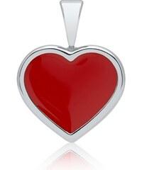 Unique Jewelry 925er Silber Anhänger Mädchen rotes Herz KP0026SL