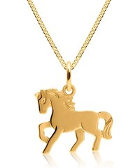 Unique Jewelry Goldkette für Kinder mit Anhänger Pferd KP0028SLK