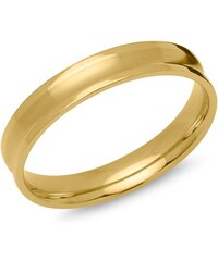 Unique Jewelry Herrenring Edelstahl gelbvergoldet 4mm R9203SL