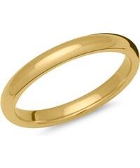Unique Jewelry Klassischer Herrenring Edelstahl gelbvergoldet R9208SL