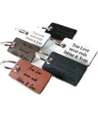 Unique Jewelry Leder Schlüsselanhänger mit individueller Gravur AS0003SL