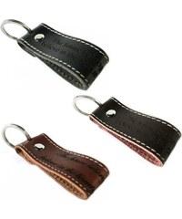 Unique Jewelry Leder Schlüsselanhänger mit Kontrastnaht AS0004SL