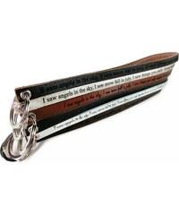 Unique Jewelry Schlüsselanhänger Rindleder mit Lasergravur AS0005SL