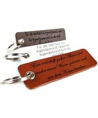 Unique Jewelry Echtleder Schlüsselanhänger mit Lasergravur AS0006SL