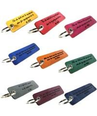 Unique Jewelry Farbiger Schlüsselanhänger Leder mit Gravur AS0013SL
