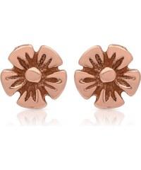 Unique Jewelry Rosé vergoldete Ohrstecker 925 Silber Blütenform SE0652