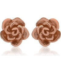 Unique Jewelry Ohrstecker 925 Silber rosé-vergoldet Blütenform SE0655