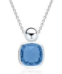 Unique Jewelry Silberkette mit Anhänger blauer Glasstein SP0631SLK