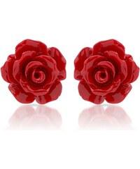 Unique Jewelry Ohrstecker aus 925 Silber Rote Rosen SE0676