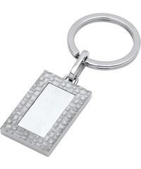 Unique Jewelry Schlüsselanhänger aus teilmattiertem Edelstahl AS0027SL