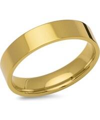 Unique Jewelry Gelbvergoldeter Ring aus Edelstahl 5mm breit R9219SL