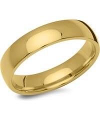 Unique Jewelry Gelbvergoldeter Herrenring aus Edelstahl R9222SL