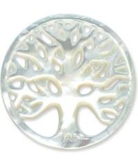 Unique Jewelry Münze für Münzanhänger Baum weiß MA0043