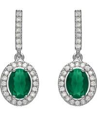 Unique Jewelry Funkelnde Ohrstecker grüner Stein Modeschmuck MOE0007