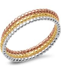 Unique Jewelry Ring-Set 925er Bubble-Design Silber rosé gold SR0333