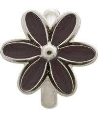 Black Enamel Flower Silver Charm Endless Silber 41155-4