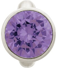 Round Amethyst Dome Silver Charm Endless 41158-1