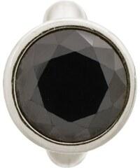 Charm Round Black Dome Silver Endless 41158-4