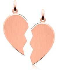 Unique Jewelry Gravierbarer Herzanhänger aus 925er Silber rosé SP0744