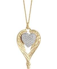 Guess Goldene Halskette Heartshelter Herz Flügel UBN71503