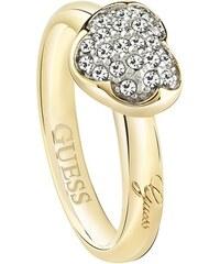 Vergoldeter Ring mit Herz Heartshelter Guess UBR72502