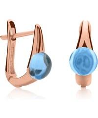Unique Jewelry Ohrschmuck rosévergoldet hellblau 925er Silber SE0776