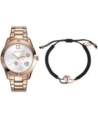 Esprit Herzuhr in rosé mit Armband ES108872003