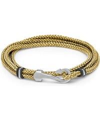 Unique Jewelry Textilarmband beige mit Haken-Verschluss TXB0130