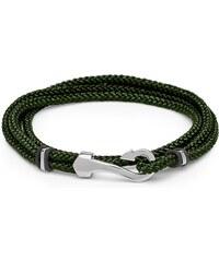 Unique Jewelry Armband Textil grün mit Hakenverschluss TXB0131