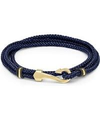 Unique Jewelry Unisex Armband blau schwarz mit gold Haken TXB0134