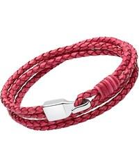 Unique Jewelry Pinkes Lederarmband Gravur möglich für Damen Haken LB0471