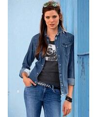 Riflová košile LEE XS modrá