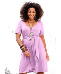 Casual Colours Letní šaty pro plnoštíhlé 40 šeříková