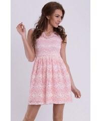 Emamoda Šaty jemně růžové