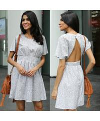 Lesara Rückenfreies Kleid mit Blümchen-Muster - M