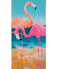 Tropix plážová osuška flamingo plameňáci 150 x 75
