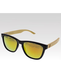 VeyRey dřevěné sluneční brýle Alder červená skla.
