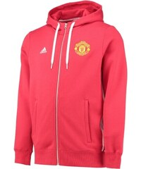 ADIDAS Mikina MANCHESTER UNITED 16 3-stripes red