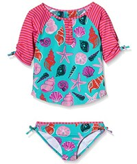Hatley Mädchen Tankini Girls Rash Guard Tankini Sets-beach Shells