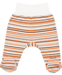 Nini Dětské polodupačky pruhované - bílo-oranžovo-hnědé