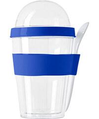 Snídaňový hrnek se lžičkou - Královská modrá univerzal