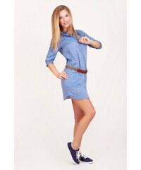 SAM 73 Dámské košilové šaty DRWS16_02 l. blue - světle modrá