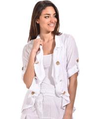 Lin pour l'autre Dámské sako veste gwen-blanc