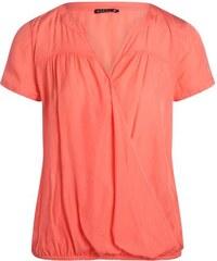Blouse boule effet croisé Orange Viscose - Femme Taille 38 - Bréal