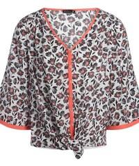 Chemise kimono nouée imprimé fleurs Blanc Viscose - Femme Taille 38 - Bréal