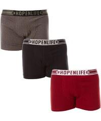 Hope N Life Usafis - Lot de 3 boxers - tricolore