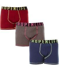 Hope N Life Usain - Lot de 3 boxers - tricolore