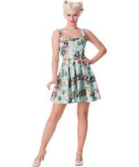 šaty dámské HELL BUNNY - Becky - Blue - 4236